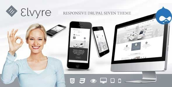 Image of Elvyre - Responsive Drupal Theme