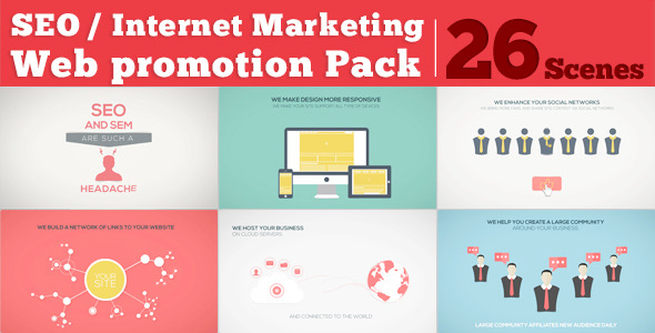 VideoHive : SEO / Internet Marketing / Web Promotion Pack