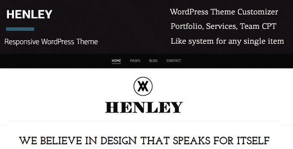 Henley - Wordpress Portfolio/Blogging Theme