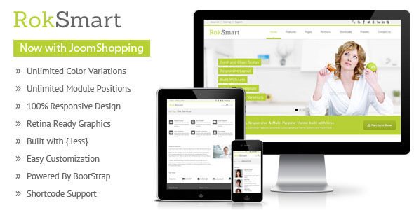 RokSmart - Responsive Multi-Purpose Joomla Theme - Shopping Retail