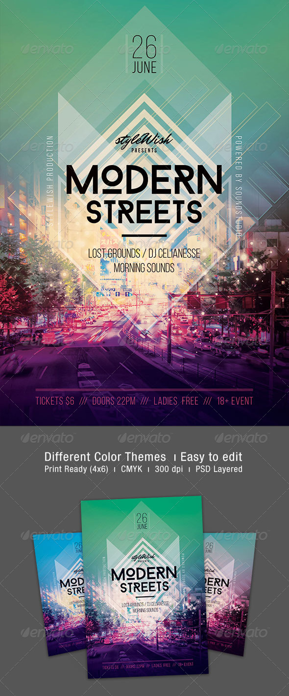 Modern Streets Flyer - Concerts Events