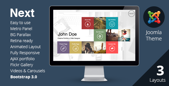NEXT - Joomla Unique & Easy Portfolio