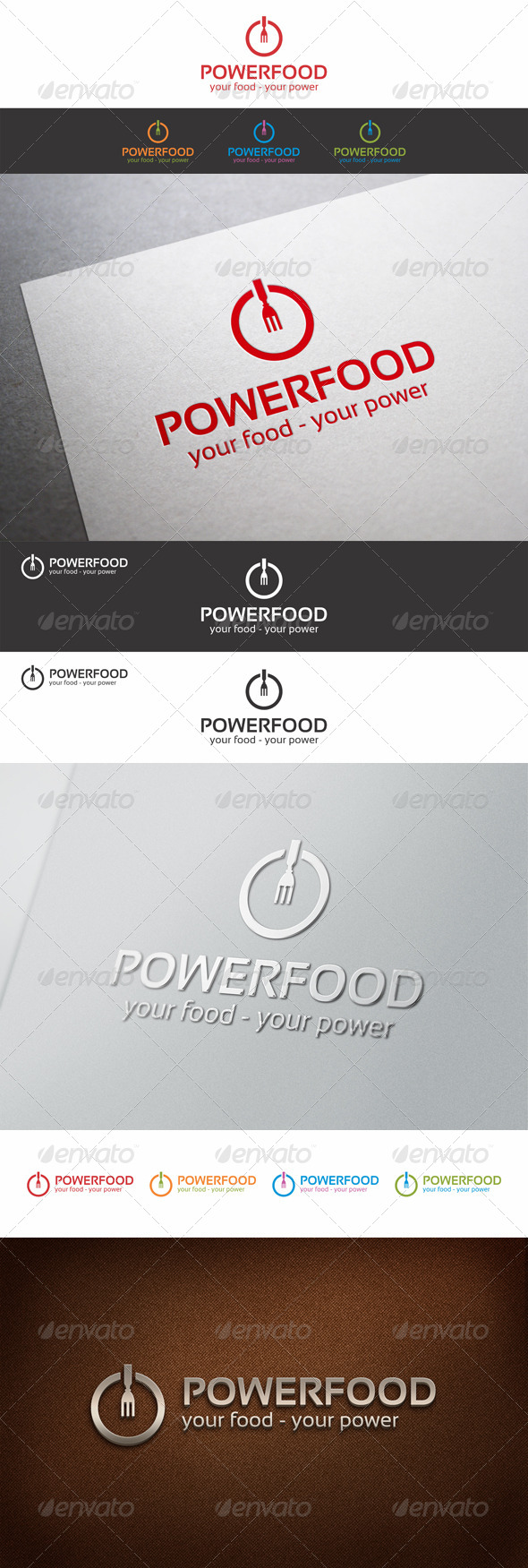 Power Food Logo Template_v2 - Food Logo Templates
