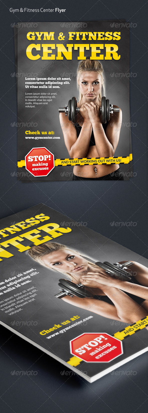 Gym & Fitness Center A4 Flyer