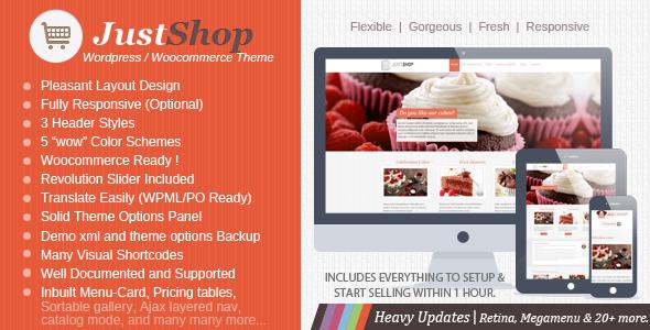 Justshop Cake - Bakery Restaurant WordPress Theme - WooCommerce eCommerce