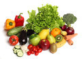 Delicious group of healthy vegetables isolated
