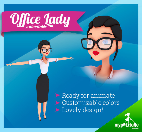 Office Lady - 3DOcean Item for Sale