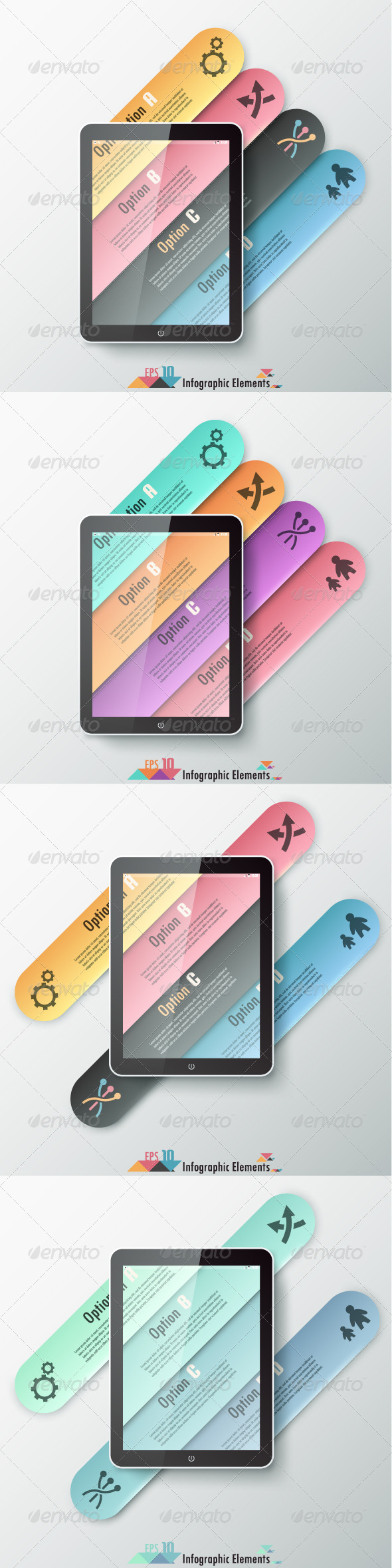 GraphicRiver Modern Infographics Options Banner Four Versions 7290982