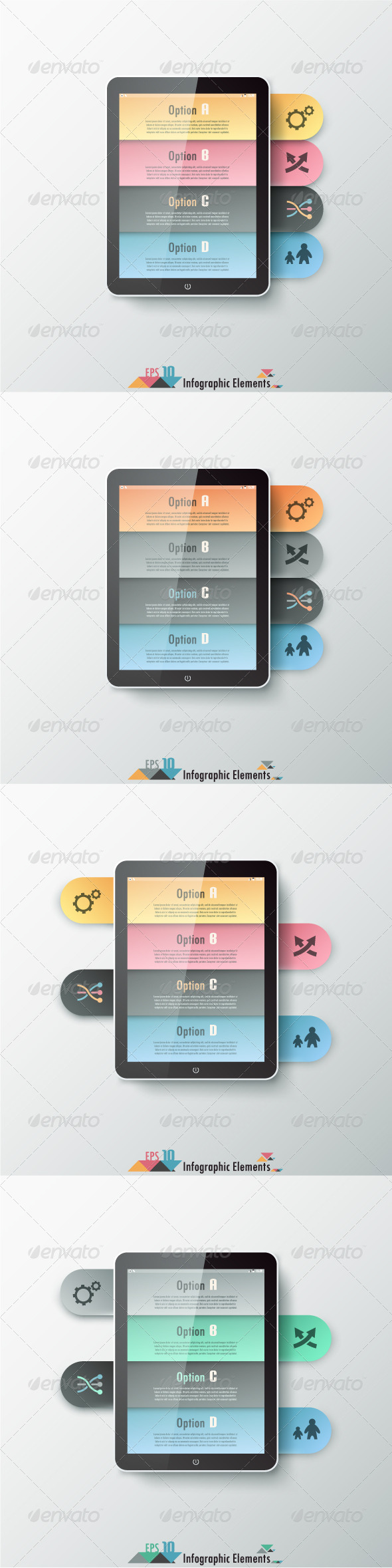 GraphicRiver Modern Infographics Options Banner Four Versions 7291022