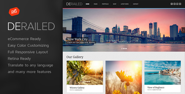 DeRailed - Photography & Portfolio Theme