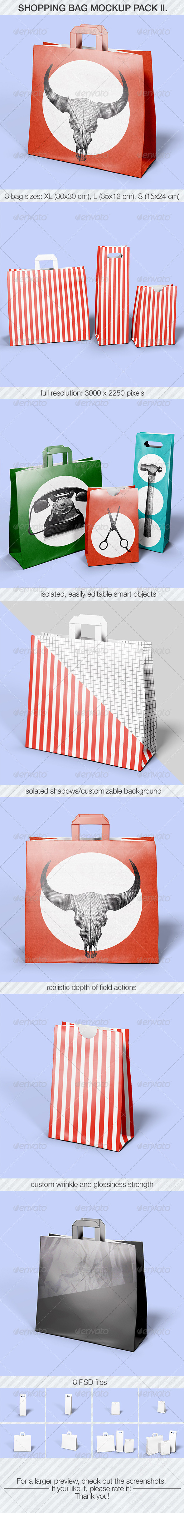 Shopping Bag Mockup Pack II