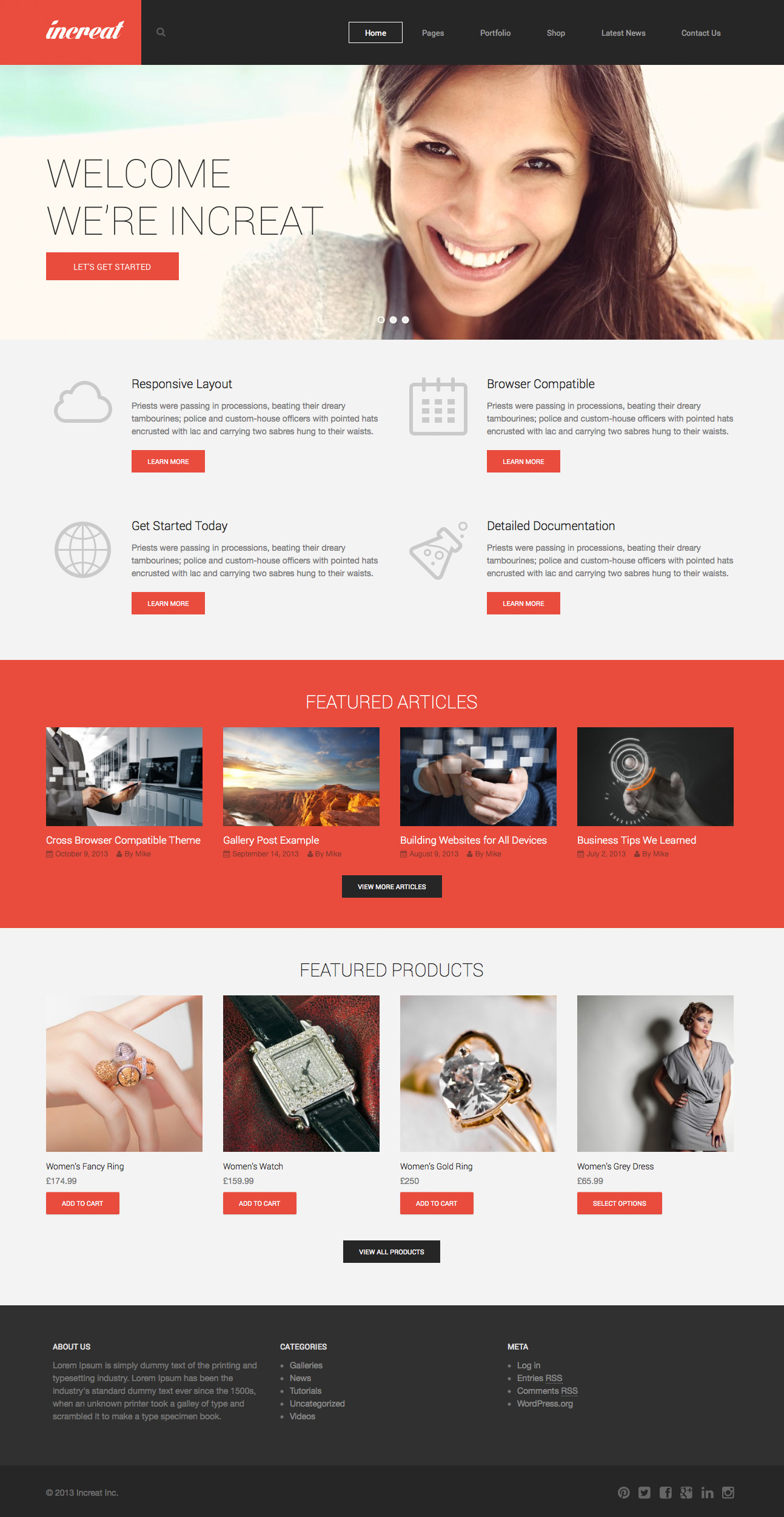Increat - Responsive Multi-Purpose Theme