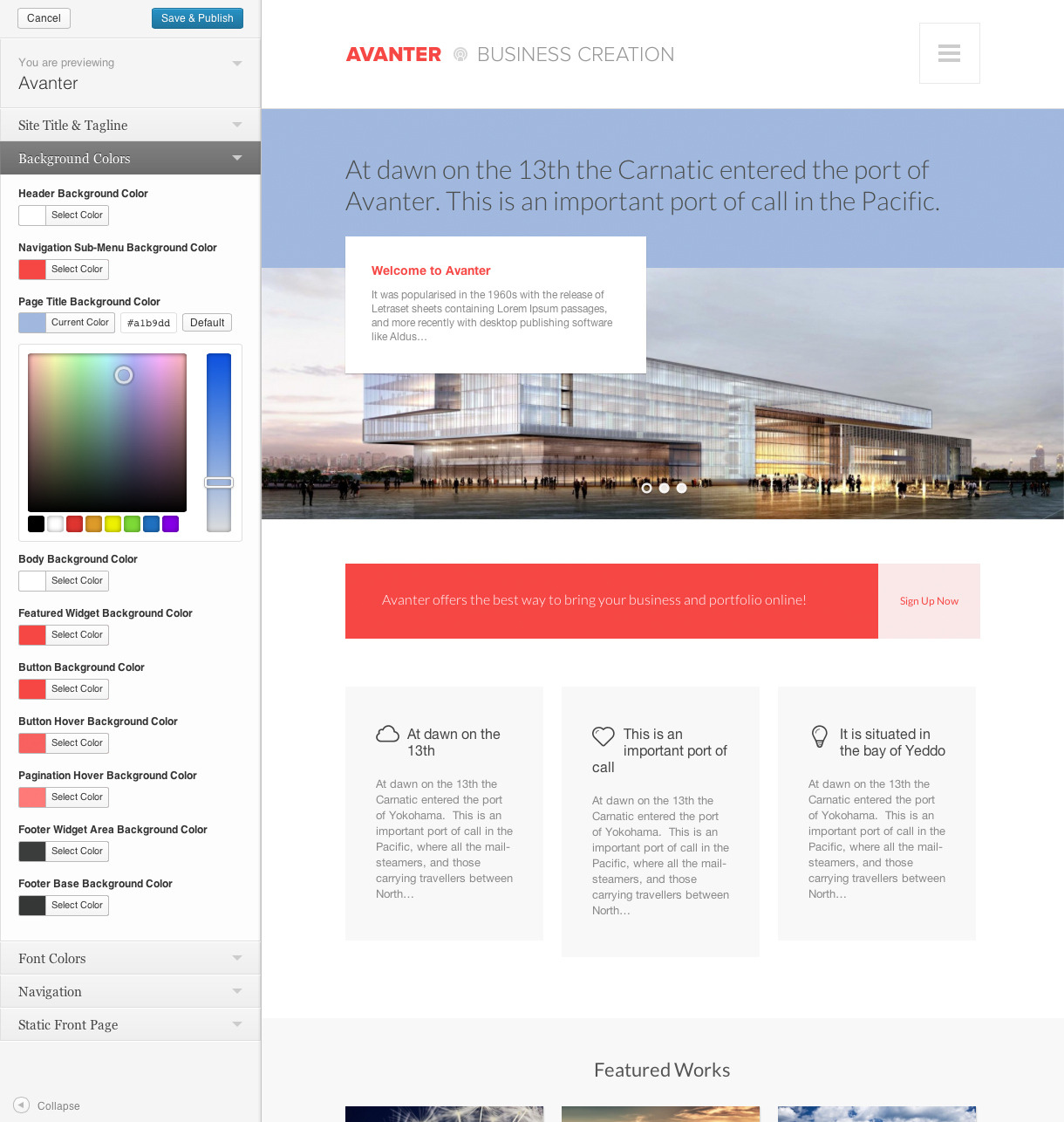Avanter -  Corporate & Architecture Theme