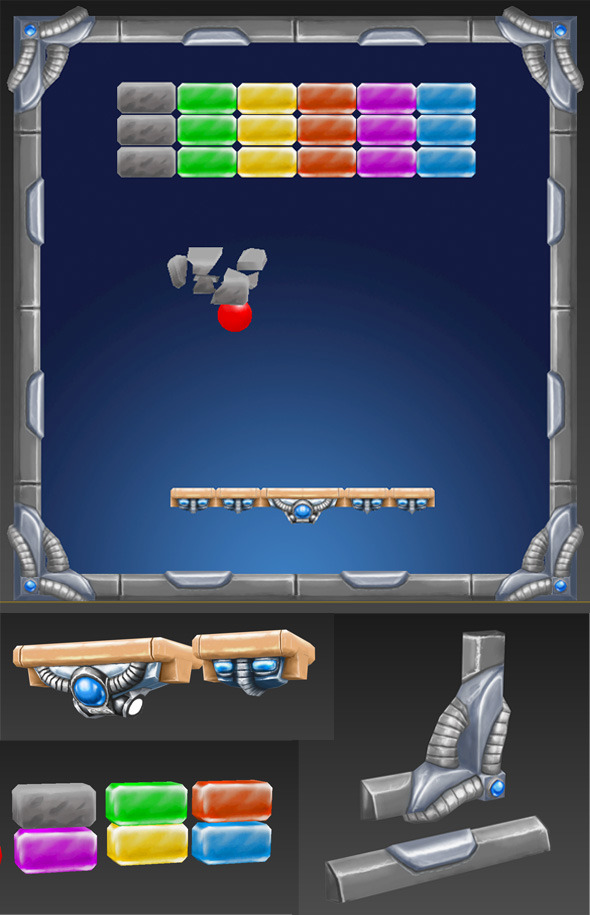 arkanoid game set  - 3DOcean Item for Sale