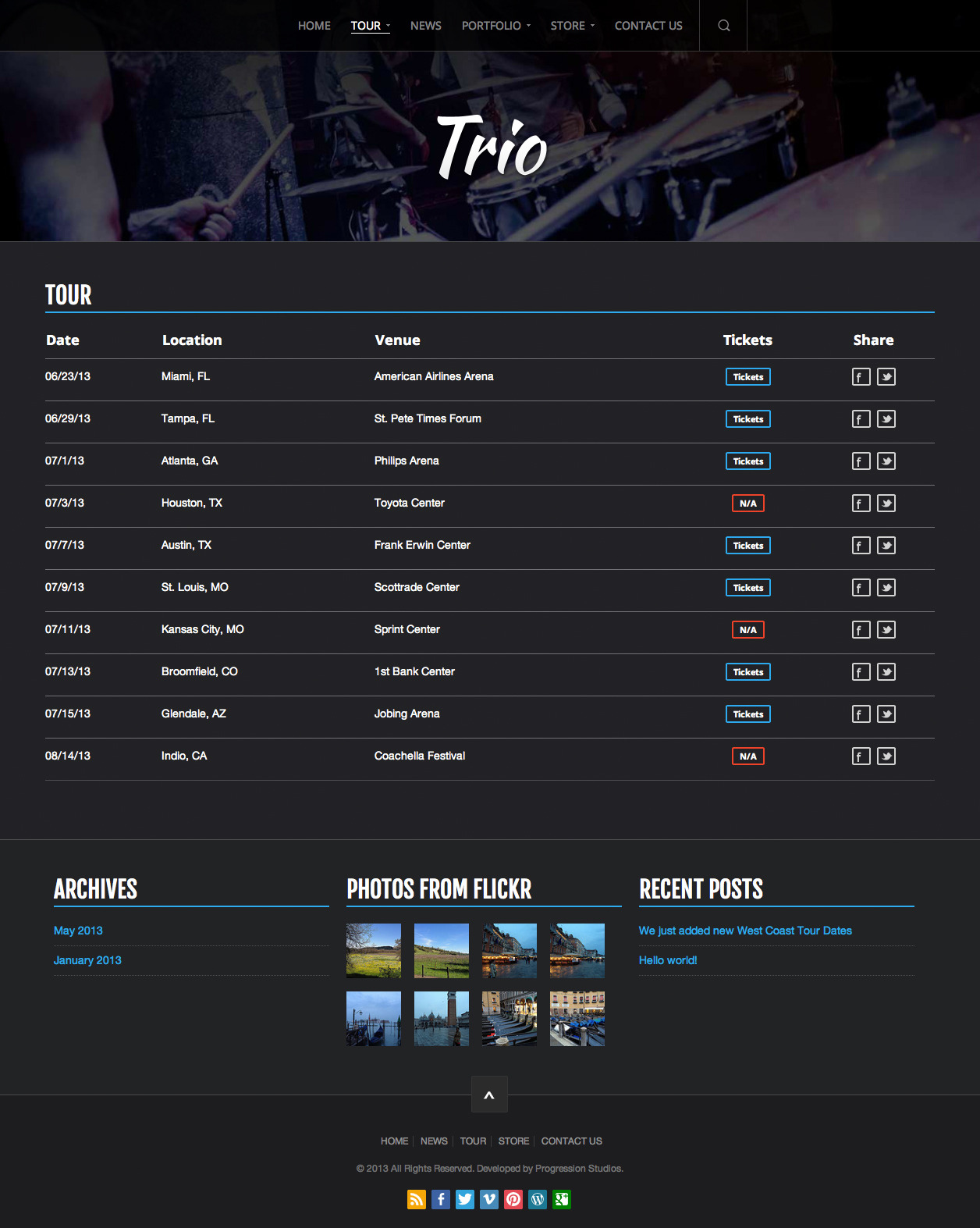 Trio - Band WordPress Theme