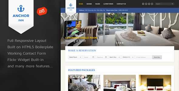 Anchor Inn - Hotel and Resort Site Template