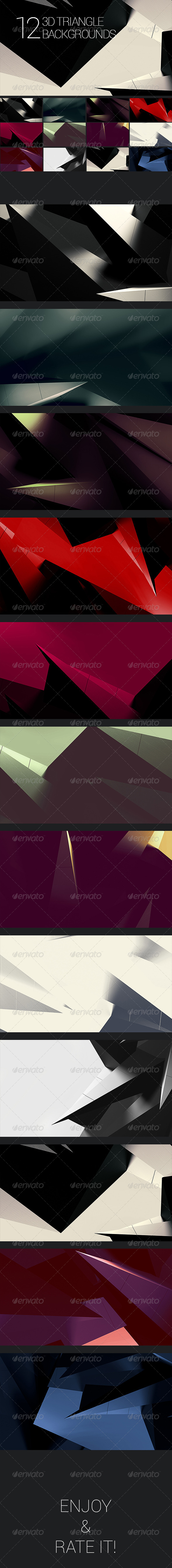 3D Polygon Backgrounds - Abstract Set 2