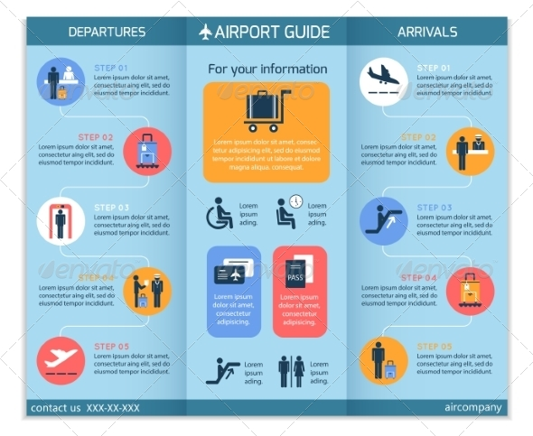 GraphicRiver Airport Business Infographic Brochure 7292678