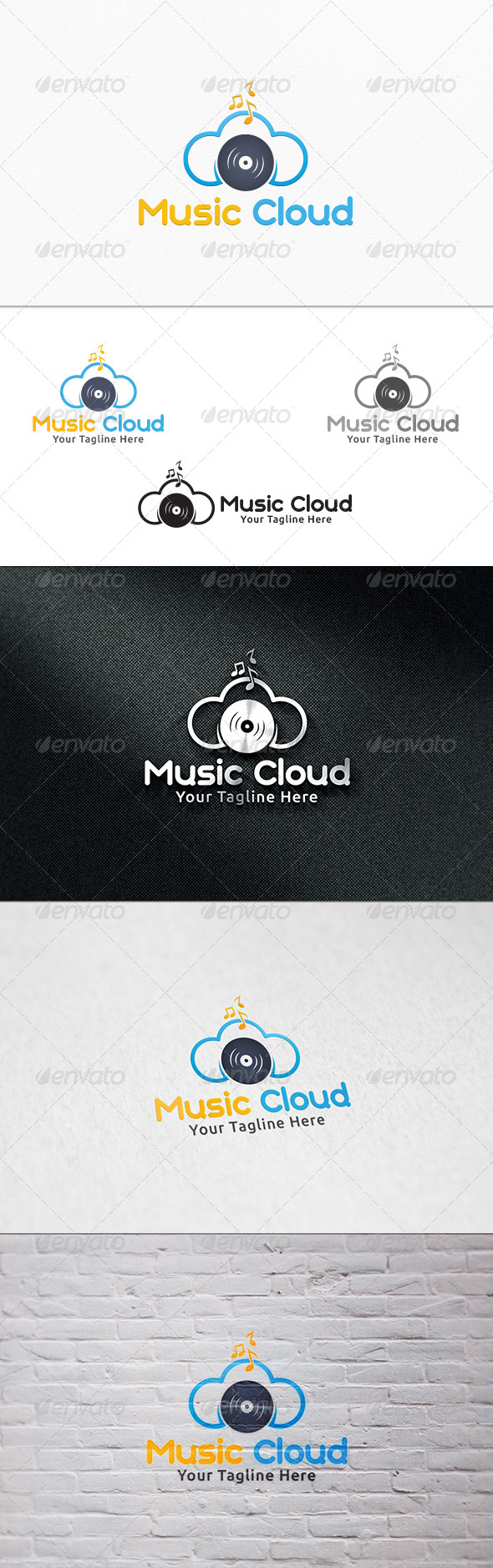 Music Cloud - Logo Template