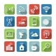 Wireless Communication Network Icons Set - GraphicRiver Item for Sale