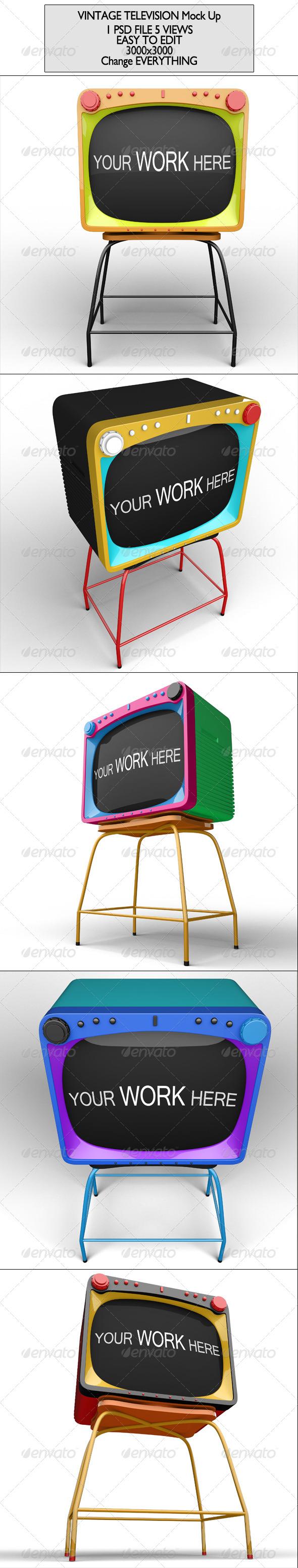 Vintage Television Mock Up