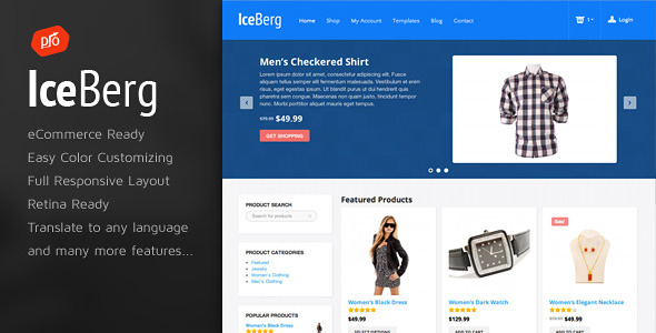 Iceberg - eCommerce Theme