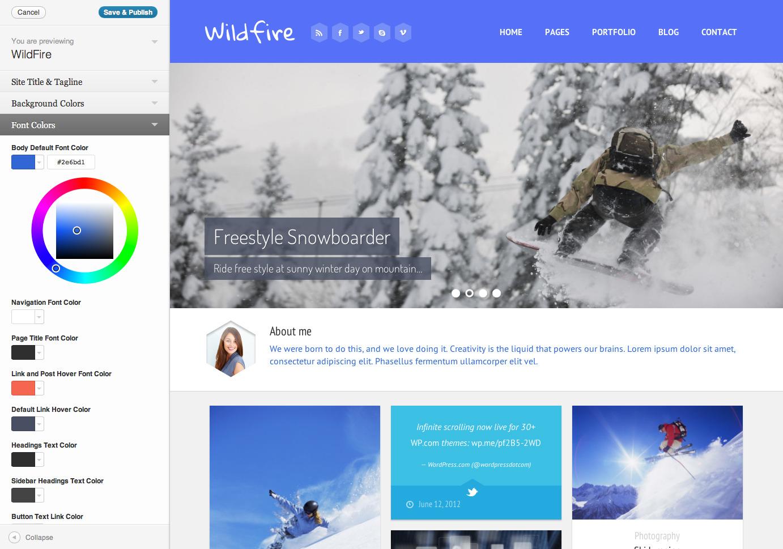 Wildfire - Responsive Portfolio Theme