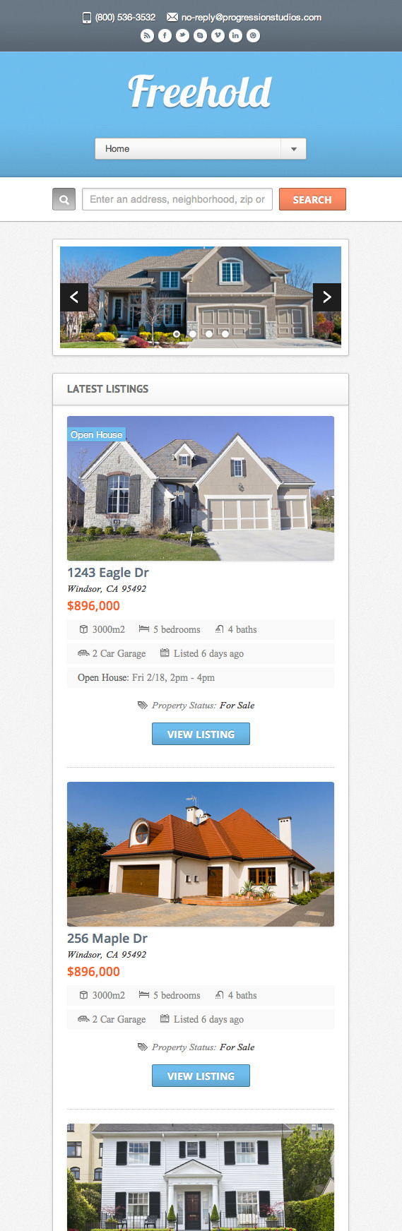 Freehold - Responsive Real Estate Theme