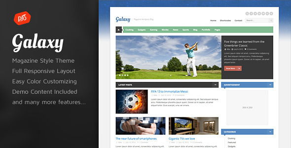 Galaxy - Responsive Magazine Theme - Blog / Magazine WordPress