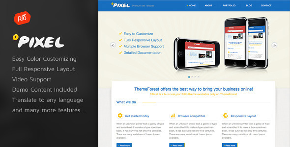 0Pixel - Responsive WordPress Theme - Portfolio Creative
