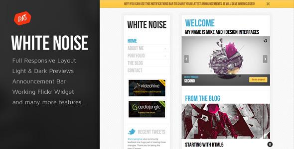 White Noise - HTML5 Template - Portfolio Creative