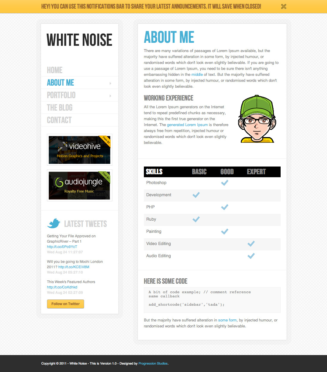 White Noise - HTML5 Template