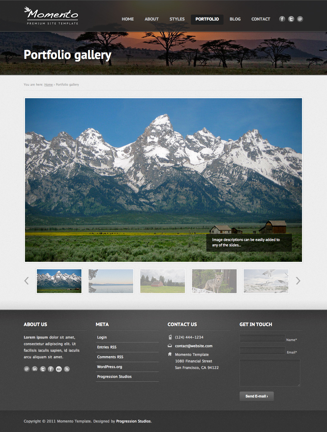 Momento - Photography and Business Template