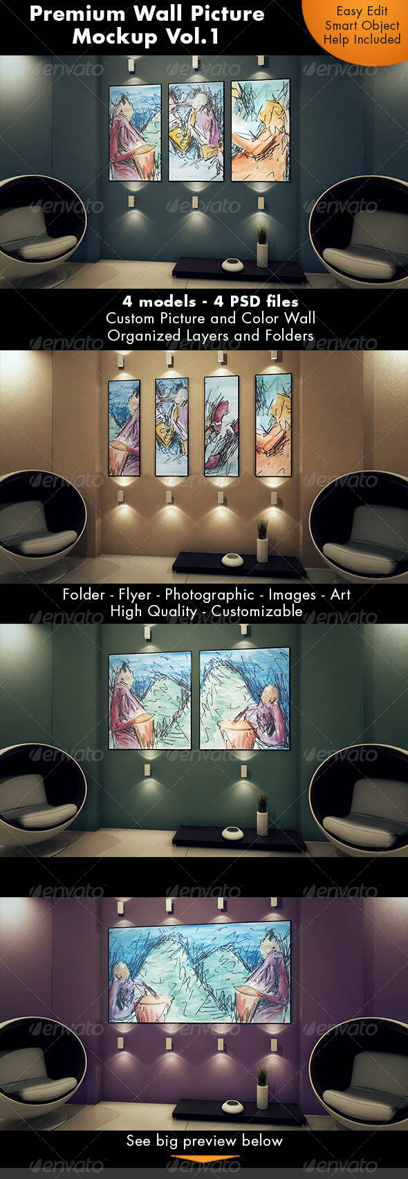 Wall Picture Mockup Vol.1
