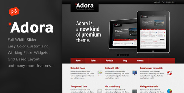 Adora Premium Business & Portfolio Template
