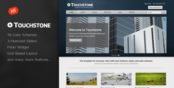 Touchstone - Corporate & Portfolio Template - Business Corporate