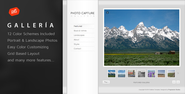 Galleria Photography and Portfolio Template