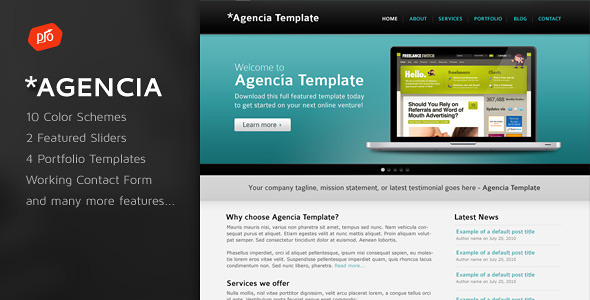 Agencia - 10 in 1 Portfolio and Business Template