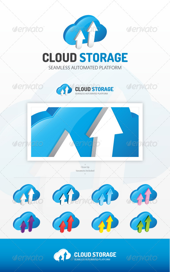 Cloud Storage Logo - Symbols Logo Templates
