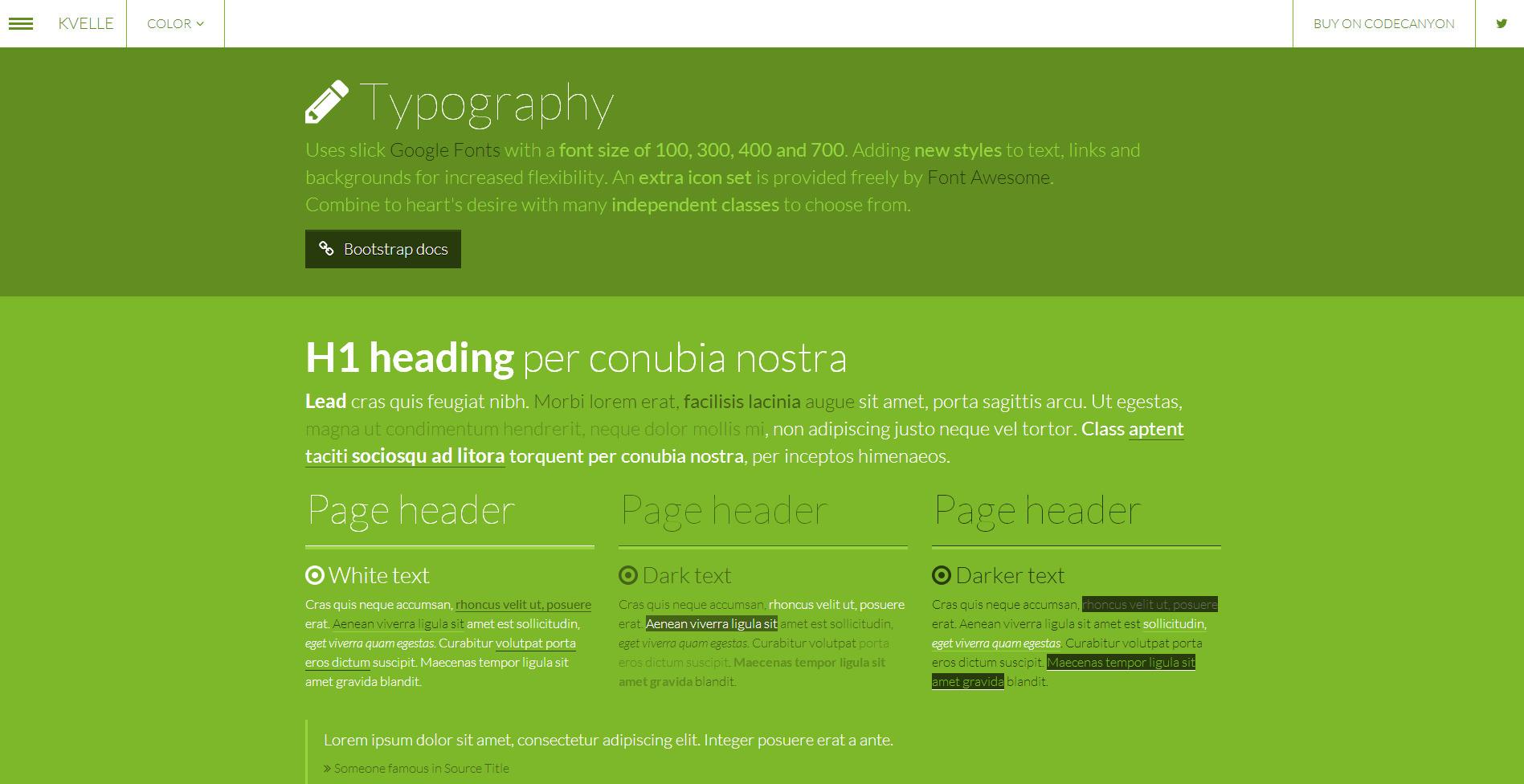 kvelle multipurpose bootstrap skin by rakinjakk codecanyon