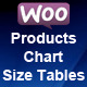 Woocommerce Product Chart Sizes Table