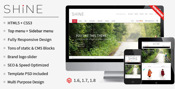 Shine Responsive Multipurpose Magento Theme