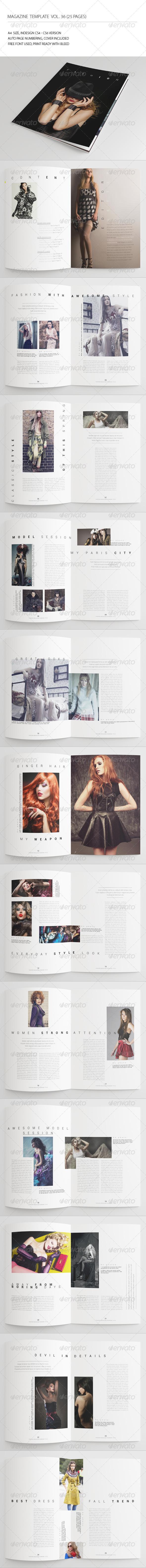 25 Pages Fashion Magazine Vol36