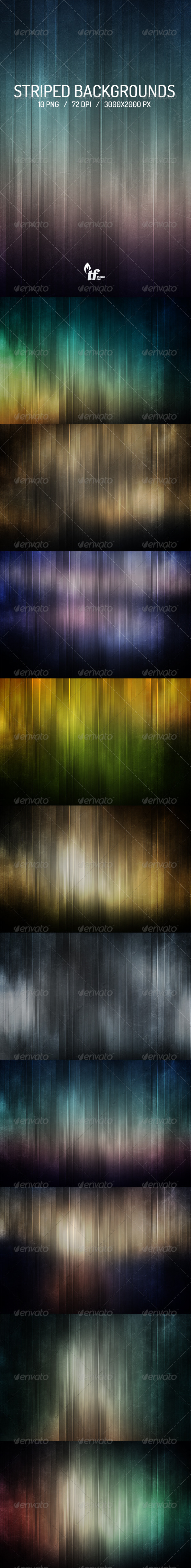10 Striped Backgrounds