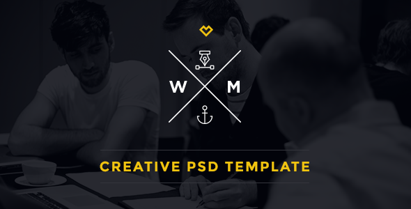 W&M | One Page Multi-Purpose PSD Template - Creative PSD Templates
