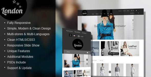 ThemeForest London Stars Responsive Prestashop Theme 7298405