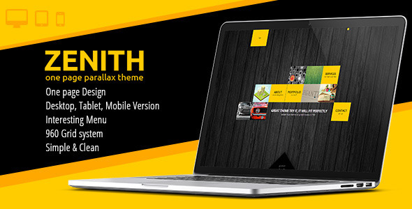ThemeForest Zenith One Page Parallax Template 6606283