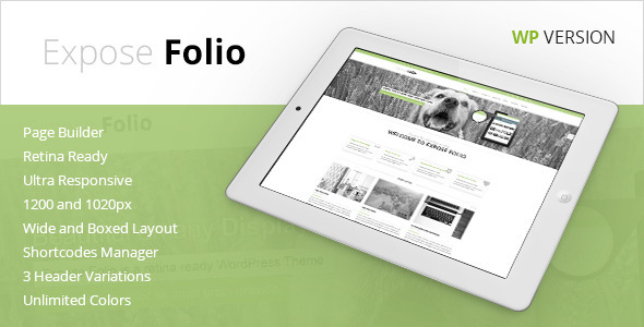 Expose Folio - Multipurpose WordPress Theme - Business Corporate