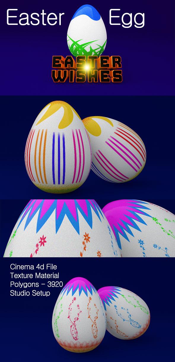 3D Easter Egg  - 3DOcean Item for Sale