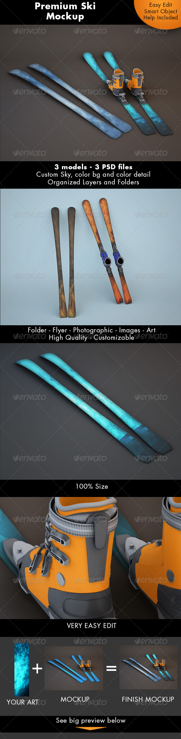 Ski Mockup - Miscellaneous Product Mock-Ups